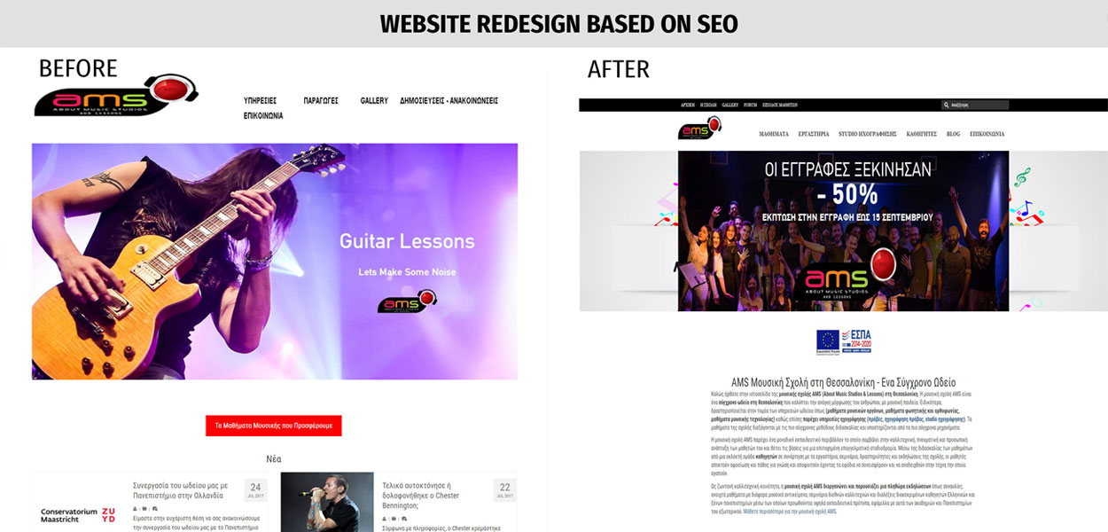 Website redesign based on SEO