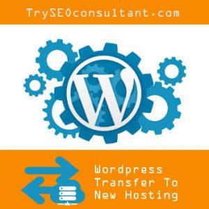 Transfer wordpress website to a new hosting provider